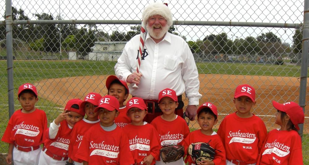 santa baseball santa